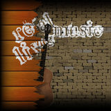 Real live music brick background with broken boards Royalty Free Stock Images