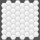 Real Looking Hexagon texture. Abstract 3D real looking texture of white honeycomb Stock Image