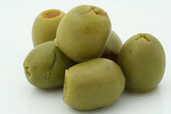 Real macro of a few olives Royalty Free Stock Photos