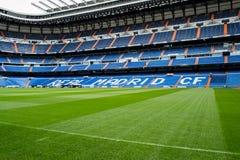 Real Madrid Bernabeu stadium. Ground picture of the Santiago Bernabeu stadium of Real Madrid stock photos