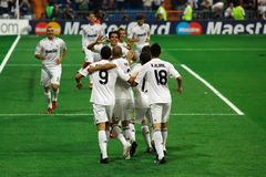 Real Madrid Celebration Royalty Free Stock Photography