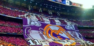 REAL MADRID CHAMPIONS ЛИГА САНТЬЯГО BERNABEU Стоковые Фотографии RF