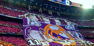 REAL MADRID CHAMPIONS LEAGUE SANTIAGO BERNABEU Royalty Free Stock Photos