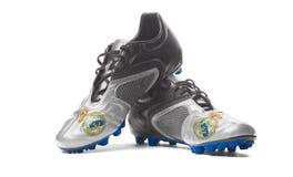 Real Madrid de FC - botas do futebol imagens de stock royalty free
