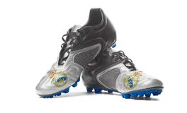 Real Madrid de FC - bottes du football images libres de droits