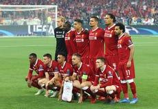 Real Madrid 2018 di finale della lega di campioni di UEFA v Liverpool, Kiev, fotografia stock libera da diritti