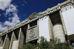 Real Madrid, Estadio Santiago Bernabeu, the modern building, Madrid, Spain Royalty Free Stock Photography
