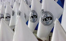 Real Madrid Flags Royalty Free Stock Photos