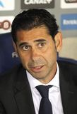 Real Madrid folâtrant directeur Manolo Hierro Photo libre de droits