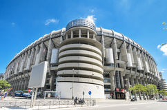 Real Madrid football club Santiago Bernabeu stadium. MADRID, SPAIN - MAY 4: Santiago Bernabeu stadium on May 4, 2013. Is the stadium of Real Madrid Football royalty free stock photos