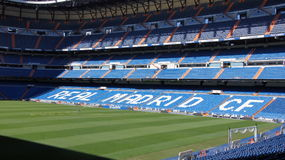 Real Madrid football stadium in Spain Royalty Free Stock Photo
