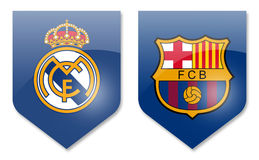 Real Madrid gegen Barcelona Lizenzfreie Stockfotografie