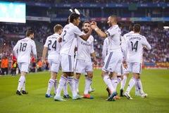 Real Madrid goal celebration Stock Photos