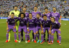 Real Madrid lineup royalty free stock image