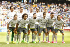 Real Madrid lineup Royalty Free Stock Photo