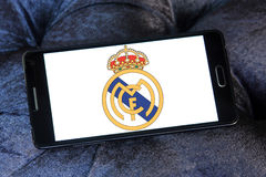 Real madrid soccer club logo Royalty Free Stock Photos