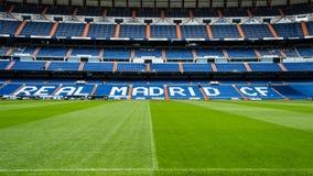 Real Madrid football stadium. The Santiago Bernabeu stadium, is an all-seater football stadium in Madrid, Spain royalty free stock photo