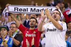 Real Madrid supporters Royalty Free Stock Photography