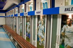 Real Madrid team locker room stock photos