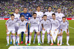 Real Madrid team. Real Madrid players posing for photos before the Spanish Cup match between UE Cornella and Real Madrid, final score 1 - 4, on October 29, 2014 Royalty Free Stock Photos