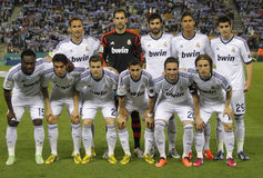 Real Madrid team posing Stock Photo