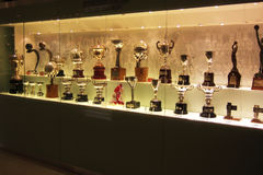 Real Madrid trophies royalty free stock photography