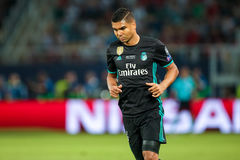 REAL MADRID V MANCHESTER UNITED: UEFA SUPER CUP Stock Photography