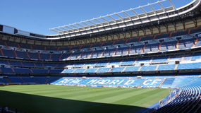 Real Madridfotbollsarena i Spanien Arkivfoton
