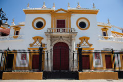 Real Maestranza, bullring in Seville Stock Images