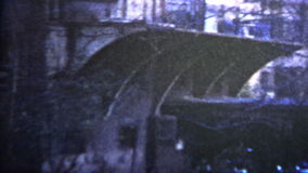 1957 - Real Mafia Family Kid With Shotgun stock footage