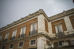 Real, majestic palace of Aranjuez in Madrid, Spain Royalty Free Stock Image