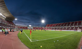 Real malloca´s soccer team stadium. View from cornerside before the start of the match in palma de mallorca´s Real Mallorca´s team soccer stadium Stock Photos
