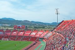 Real Mallorca audience Son Moix Royalty Free Stock Image