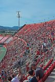 Real Mallorca audience Son Moix. PALMA DE MALLORCA, BALEARIC ISLANDS, SPAIN - MAY 28, 2017: Real Mallorca against Numancia audience Son Moix Iberostar Stadium on Royalty Free Stock Photo