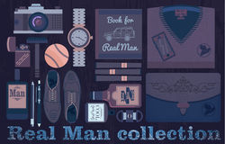 Real man collection royalty free illustration