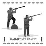 a real man - a hunter and marksman Stock Photography