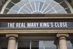 The Real Mary Kings Close in Edinburgh Royalty Free Stock Photography