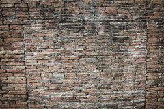 Real medieval brick wall surface can use as background pattern or texture with real light at old town Songkhla Thailand. (Vintage style Royalty Free Stock Images