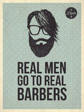 Real men go to real Barbers Stock Photo