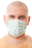 Real men in surgical mask Stock Image
