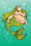 Real mermaid. Mermaid beauty is maybe not just beauty of her body Stock Photography