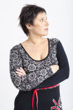 Real middle aged pretty woman Royalty Free Stock Photography