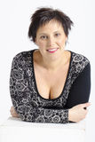 Real middle aged pretty woman Royalty Free Stock Photos
