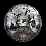 Real mirror ball. Disco club on dark background Royalty Free Stock Photography