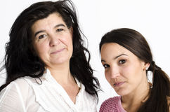Real mother and daughter Stock Photo