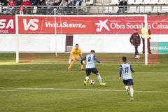Real Murcia C.F. vs CD El Ejido 2012 royalty free stock image