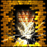 Real music brick wall flash of lightning Royalty Free Stock Photography