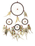 Real native dream catcher. On pure white background Royalty Free Stock Photo