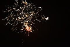 A real new year`s fireworks stock images