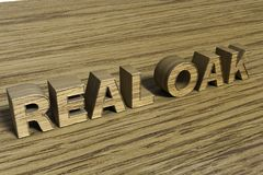 Real Oak 3D Text Stock Image